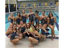 Team Celebrating Senior Night Win vs Joliet