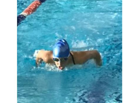 Showing fine form in 100 Yard Butterfly.