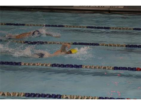 Nik swimming and winning 100 Freestyle at IMSA @ 52.13