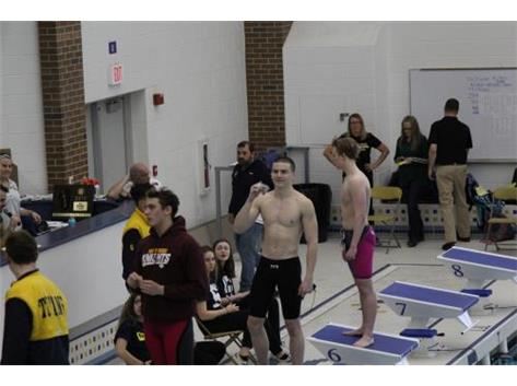 Conrad medalist 50 Freestyle at Sectionals 21.99 sec