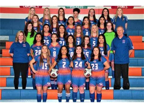 2018-2019 GKHS Varsity & JV Girls Soccer Team Head Coach: Randy Tate - Asst. Coach: Holly Lippold