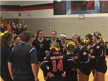 Varsity Lady Rams Huddle Up vs. East Aurora