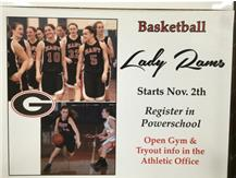 Join Girls Basketball, be part of a great 2015-16 Rams athletic experience!