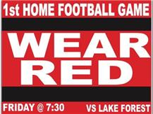Red Out Theme 2016 for football vs. Lake Forest