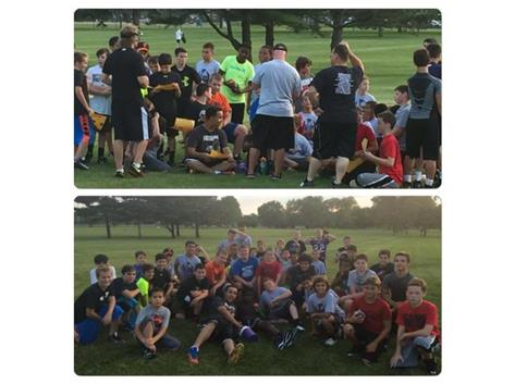 2015 Lombard Youth Football summer combine camp, led by the Rams Football staff.