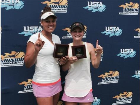 Kolie Allen, ranked in the state and nationally, wins USTA Under-16 Doubles National Championship!