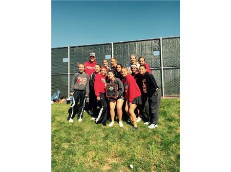 Girls Varsity Tennis win 2015 Rams Invite
