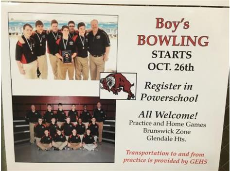 Join Boys Bowling, be part of a great 2015-16 Rams athletic experience!
