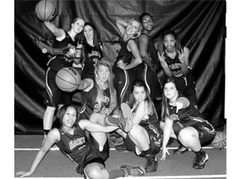 2015-16 Varsity Lady Rams Basketball in Black & White (some not photoed)