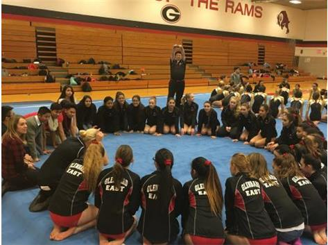 Girls Gymnastics Circle Up