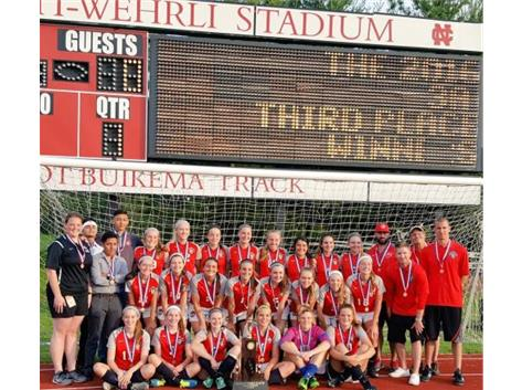 2016 Lady Rams girls soccer finish 3rd overall at the IHSA STATE FINAL; #1 by the Daily Herald