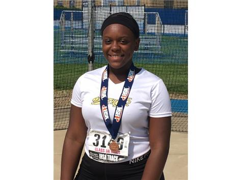 2017-18 All State Girls Track & Field Discus Jasmine Stokes