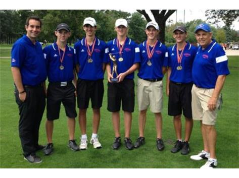 Congratulations to the Glenbard South Raider Boys Golf Team on their first place win in the 26 team Fenton Invitational at White Pines Golf Course. Low for the Raiders were Russell Matos 70, Michael Wittenberg 73, Christopher Dufort, and Kevin Uvodich 76. The Raiders shot a team 293 to finish in first place. Top runner up schools: Wheaton Warrenville South 297, Dekalb 301, Benet 309