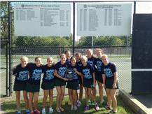 Varsity Girls Tennis Downers Grove South Invite Champions!