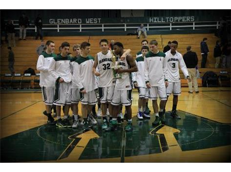 Glenbard West Hilltoppers won the 2013 Christmas Tournament.