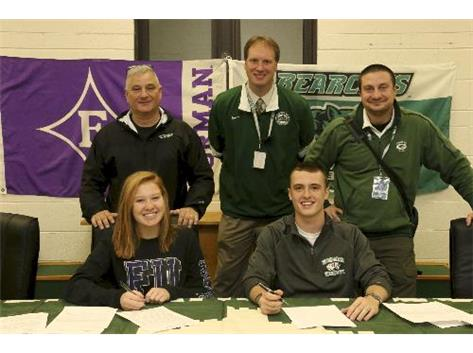 Signing Day. Meg DeMaar & Joe Leland