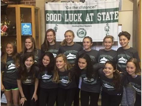 Girls Cross Country Good Luck at State!