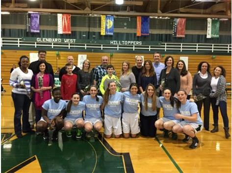 Girls Basketball Senior Night 2015