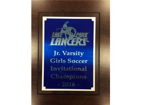 Junior Varsity 2016 Lake Park Lancers Invitational Champions