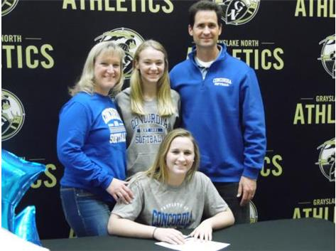Jenna Pozezinski signs to play softball with Concordia University - Wisconsin.