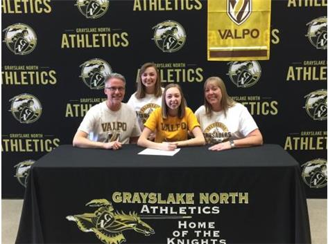 Payton Bertermann signs with Valparaiso for bowling.