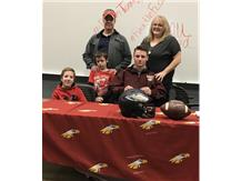 Jared Hornbeck signs with Robert Morris.