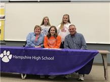 Meagan Heine signs w/University of UW/Platteville.