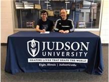 Jose Cruz signs with Judson College.