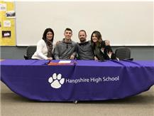 Charlie Piazza signed with Ohio Northern University 4/3/17.