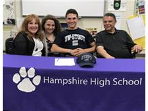 Alex Mahaz signs with UW-Stout on 4/25/17.