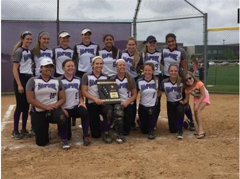 Congratulations to the varsity softball team for their Regional title!