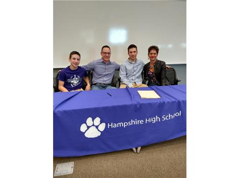 Noah Schrader signs with Truman State University.