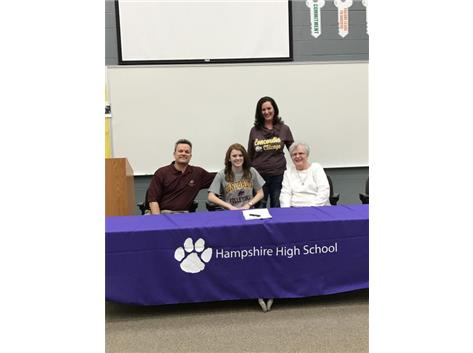 Alliana Dellert Signs with Concordia College.