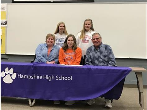 Meagan Heine signs w/University of UW/Platteville.