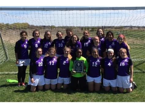Varsity Girls Soccer place 1st at Woodstock North
