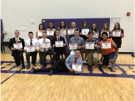 FVC Spring All Conference and All Academic Recipients.