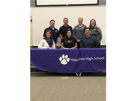 Congratulations to Gianna Garza signing with Clark University.