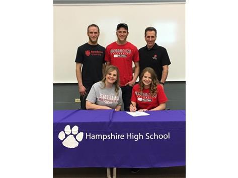 Madelyn Sullivan signs with Benedictine University 4/24/18.