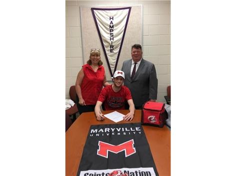 Reid Coyle signs w/Maryland University 5/3/18.
