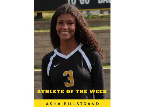 Athlete of the Week - Asha Billstrand