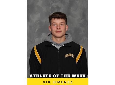Athlete of the Week - Nik Jimenez
