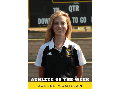 Athlete of the Week - Joelle McMillan