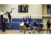 Girls Volleyball in Action