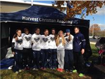 The 2014 HCA girls cross country team takes 3rd place at the Lisle Sectional, and advances to the IHSA State Finals
