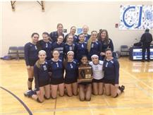 The 2014 HCA girls volleyball team wins their fourth consecutive IHSA Regional championship