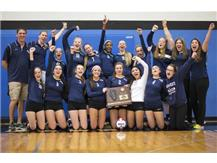 2014 HCA girls volleyball team win their fourth consecutive Sectional Championship