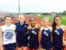 The HCA girls track and field team sends 5 athletes to the 2015 IHSA State Finals in 6 events, a new school record for qualifiers in a season.