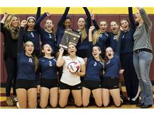 The 2015 HCA girls volleyball team wins their 5th consecutive IHSA Regional Championship