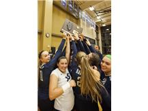 2015 HCA girls volleyball team wins their fifth consecutive Sectional Championship. 