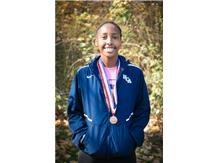 HCA Sophomore Nygia Pollard achieves All-State status with her 10th place finish in the IHSA Class 1A girls cross country state finals.    WE ARE LIONS